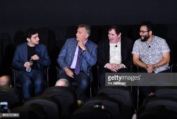 Craig Roberts Paul Reiser Richard Kind and Ennis Esmer speak at the Tribeca TV Festival season premiere of Red Oaks at Cinepolis Chelsea on September...