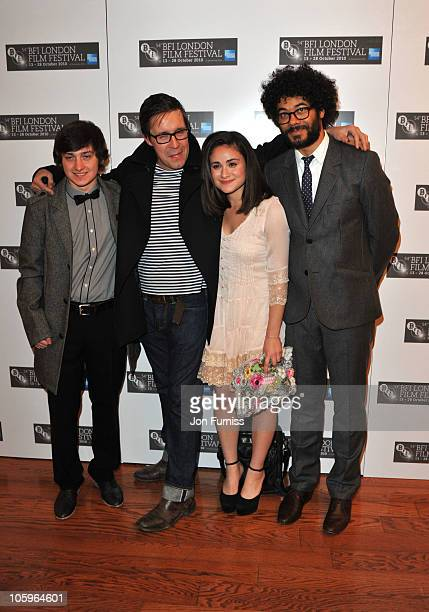 Craig Roberts Yasmin Paige and Richard Ayoade attend the BFI screening of 'Submarine' at Vue Leicester Square on October 22 2010 in London England