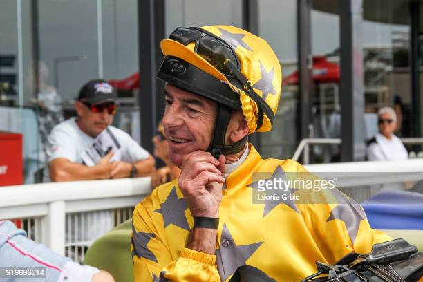 Craig Robertson after winning the Flaked N Fried Newborough Cup BM58 Handicap at Moe Racecourse on February 18 2018 in Moe Australia