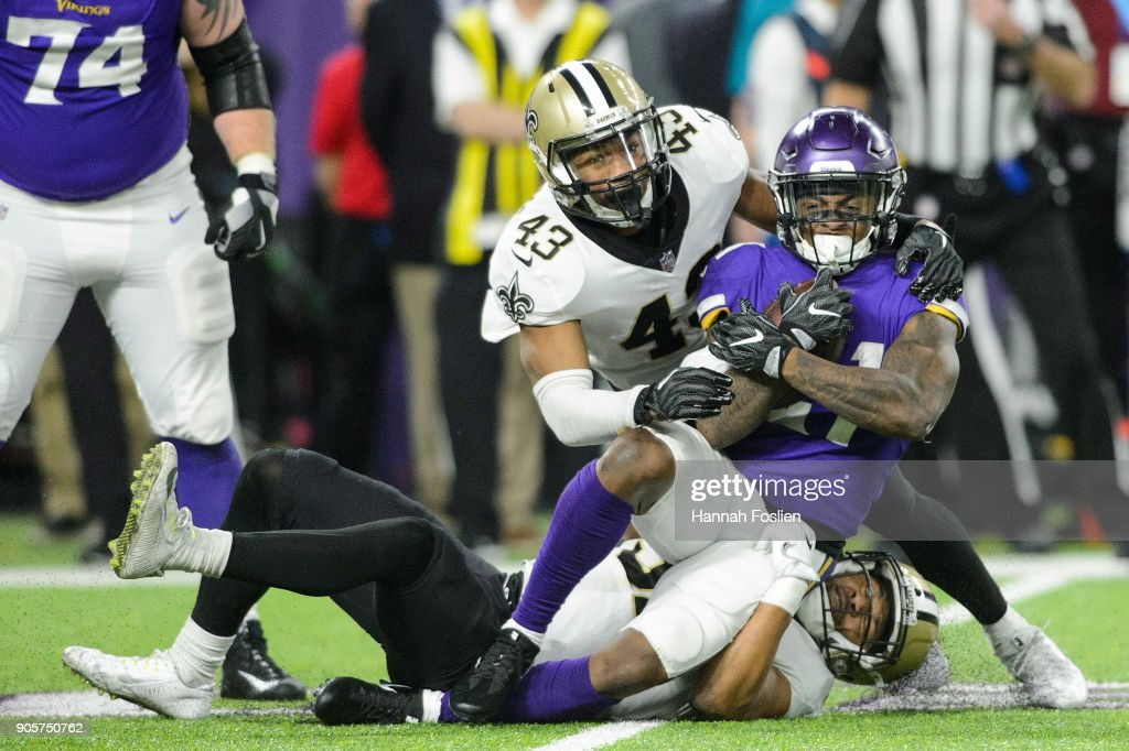 Divisional Round - New Orleans Saints v Minnesota Vikings : News Photo