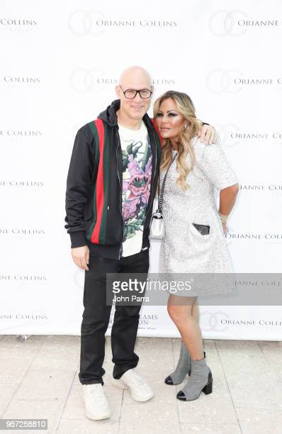 Craig Robins and Orianne Collins attend Orianne Collins Jewellery Grand Opening on May 10 2018 in Miami Florida