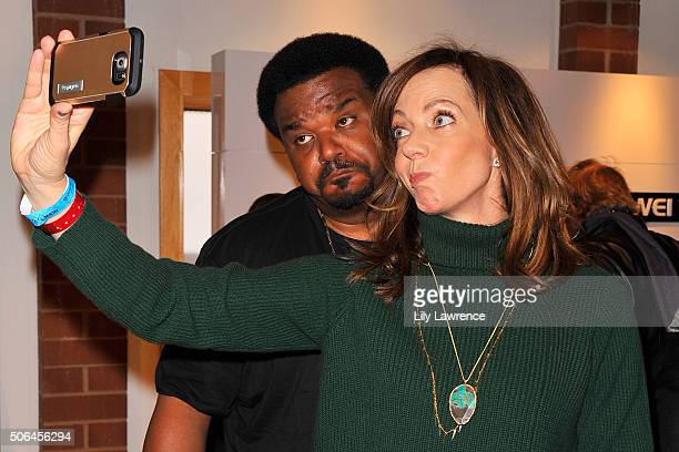 Craig Robinson and Allison Janney attends Kari Feinstein's Style Lounge on January 23 2016 in Park City Utah