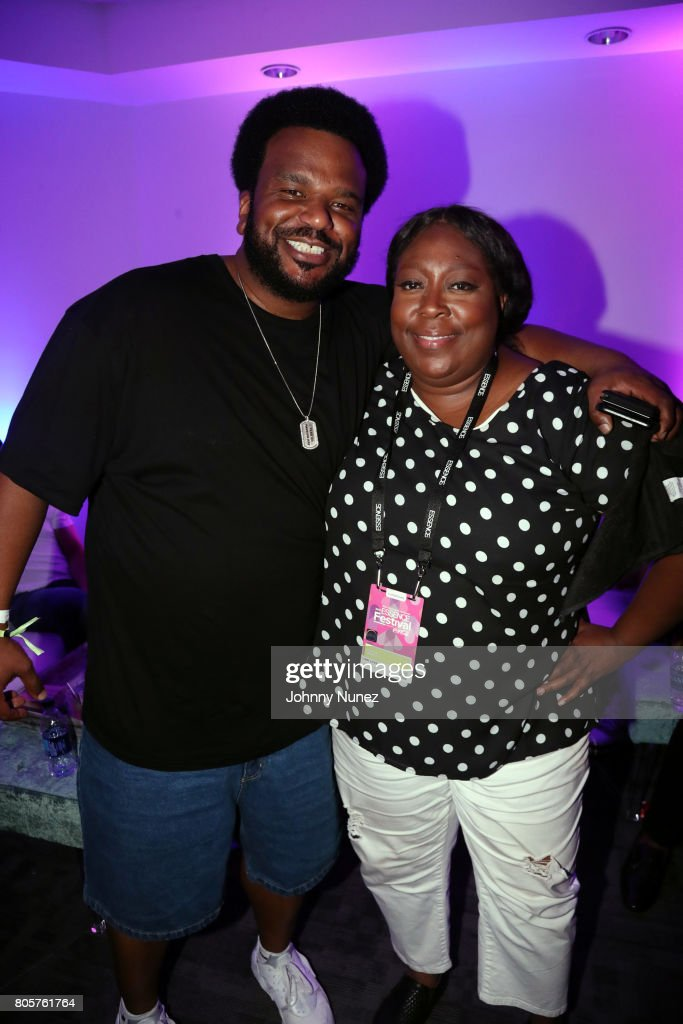 Craig Robinson (L) and Loni Love attend the 2017 Essence Festival on July 2, 2017 in New Orleans, Louisiana.