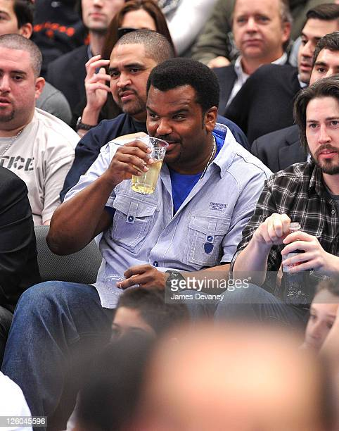 Craig Robinson attends the Miami Heat vs New York Knicks game at Madison Square Garden on December 17 2010 in New York City