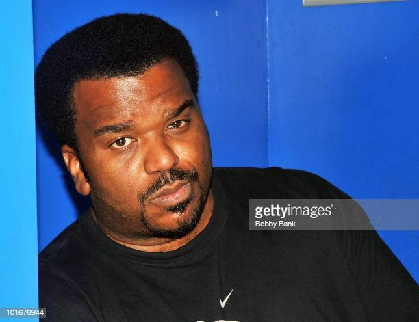 Craig Robinson backstage at The Stress Factory Comedy Club on June 6, 2010 in New Brunswick, New Jersey.
