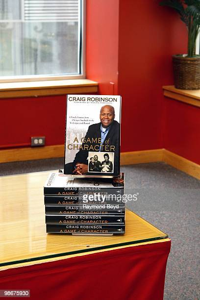 """Craig Robinson, brother of First Lady Michelle Obama, signed copies of his book, """"A Game Of Character"""" at Borders Books And Music in Chicago,..."""