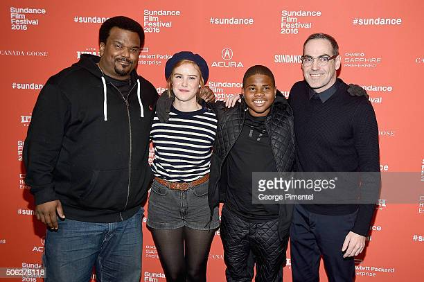 Craig Robinson Carla Juri Markees Christmas and Chad Hartigan attend the 'Morris From America' Premiere during the 2016 Sundance Film Festival at...
