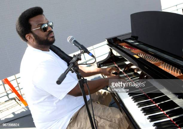 Craig Robinson performs onstage at the 8th Annual Pedal On The Pier Fundraiser at Santa Monica Pier on June 3 2018 in Santa Monica California