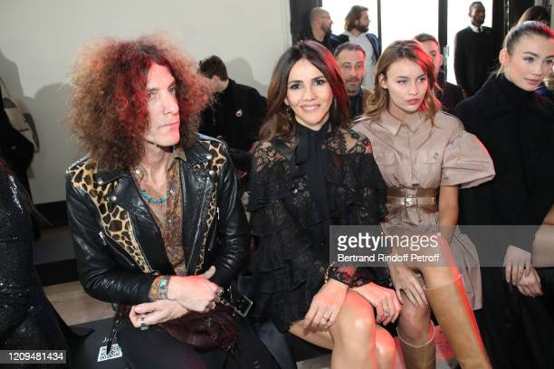 Craig Ross his wife Goya Toledo and Lena Simonne attend the Elie Saab show as part of the Paris Fashion Week Womenswear Fall/Winter 2020/2021 on...
