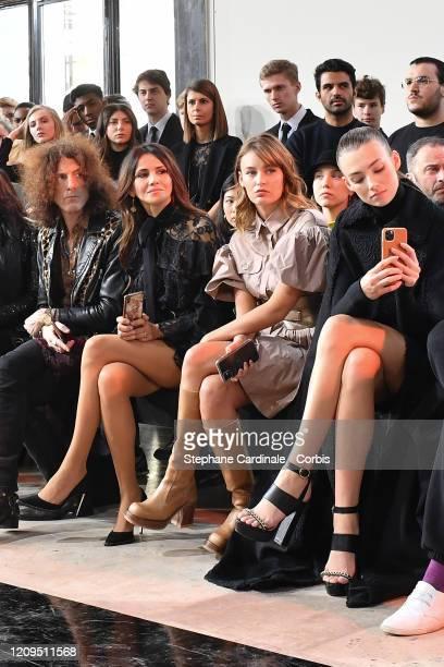 Craig Ross his wife Goya Toledo Lena Simonne and Lorena Rae attend the Elie Saab show as part of the Paris Fashion Week Womenswear Fall/Winter...