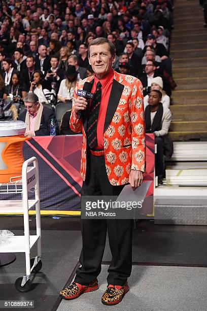 Craig Sager stands on the sideline during the game as part of NBA AllStar 2016 on February 14 2016 at the Air Canada Centre in Toronto Ontario Canada...