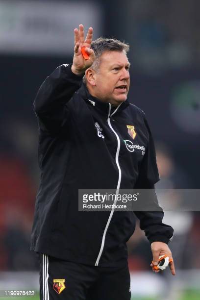 Craig Shakespeare assistant head coach looks on prior to the Premier League match between Watford FC and Wolverhampton Wanderers at Vicarage Road on...