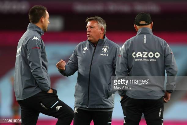 Craig Shakespeare Assistant Head Coach with John Terry during the Premier League match between Aston Villa and Liverpool at Villa Park on October 4,...