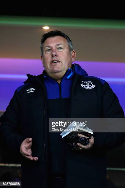 Craig Shakespeare Coach of Everton looks on from the stands during the Premier League match between West Bromwich Albion and Everton at The Hawthorns...