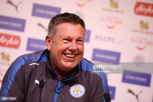 Craig Shakespeare during the Leicester City press conference at Belvoir Drive Training Complex on September 28 2017 in Leicester United Kingdom