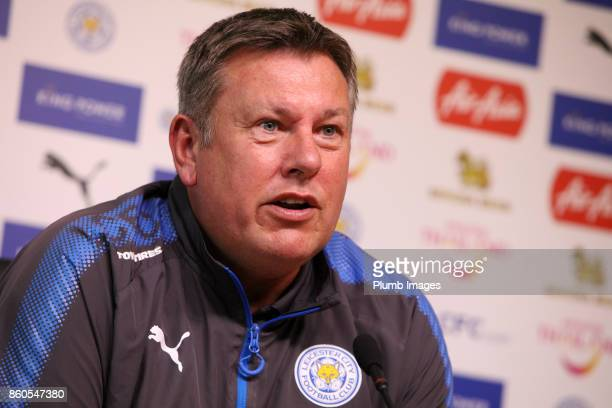 Craig Shakespeare during the Leicester City press conference at Belvoir Drive Training Complex on October 12 2017 in Leicester United Kingdom