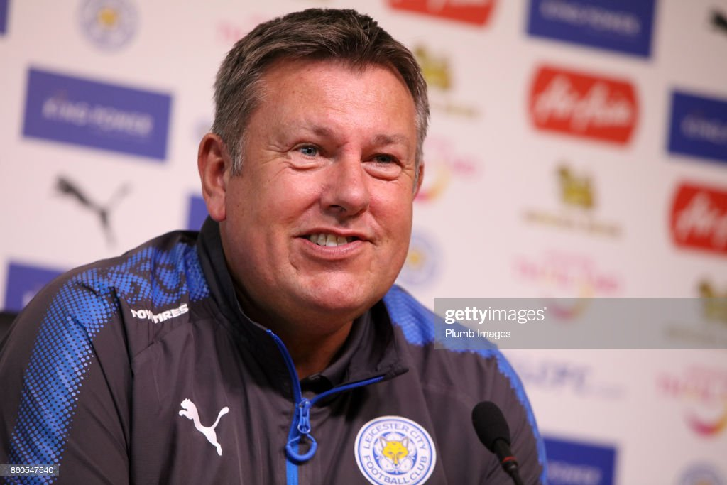 Craig Shakespeare during the Leicester City press conference at Belvoir Drive Training Complex on October 12 , 2017 in Leicester, United Kingdom.
