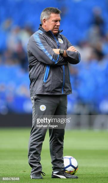 Craig Shakespeare, manager of Leicester City looks on prior to the Premier League match between Leicester City and Brighton and Hove Albion at The...