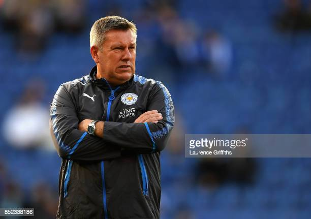 Craig Shakespeare manager of Leicester City looks on prior to the Premier League match between Leicester City and Liverpool at The King Power Stadium...