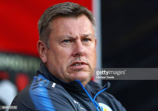 Craig Shakespeare manager of Leicester City looks on prior to the Premier League match between AFC Bournemouth and Leicester City at Vitality Stadium...