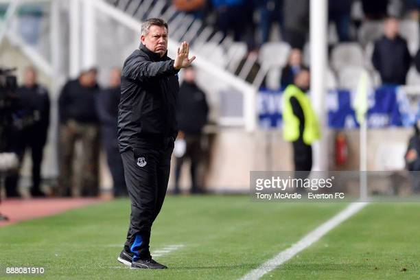 Craig Shakespeare of Everton issues instructions during the UEFA Europa League Group E match between Apollon Limassol and Everton at GSP Stadium on...