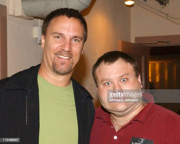 Craig Shoemaker and Frank Caliendo during Comedians Perform for Katrina Relief at The Wiltern - October 17, 2005 at The Wiltern Theater in Los...