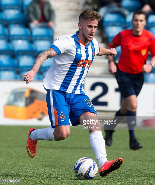 Craig Slater in action for Kilmarnock at the Scottish premiership match between Kilmarnock and Ross County at Rugby Park on May 23 2015 in Kilmarnock...