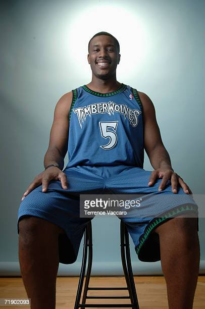 Craig Smith of the Minnesota Timberwolves poses for a portrait during the 2006 NBA Rookie Photo Shoot on Aust 14 2006 at the MSG Training Facility in...
