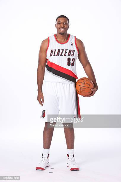 Craig Smith of the Portland Trail Blazers poses for photos during the team's annual Media Day on December 16 2011 at the Rose Garden Arena in...