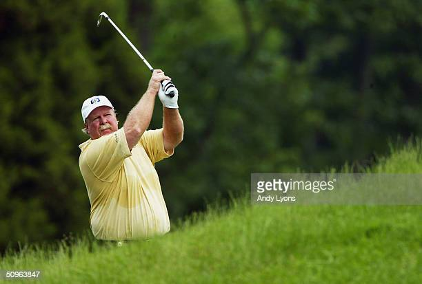 Craig Stadler hits a shot during the third round of the Senior PGA Championship on May 30 2004 at Valhalla Golf Club in Louisville Kentucky