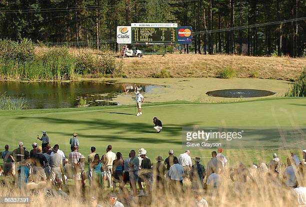 Craig Stadler in action on the 16th green during the first round of the 2005 Boeing Greater Seattle Classic at TPC Snoqualmie in Snoqualmie,...