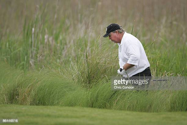 Craig Stadler looks for his ball on during the first round of the 2005 Libery Mutual Legends of Golf.