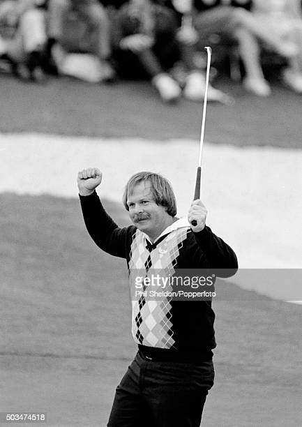 Craig Stadler of the United States on his way to winning the US Masters Golf Tournament held at the Augusta National Golf Club in Georgia, circa...