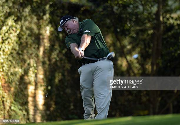 Craig Stadler of the US tees off during the first round of the 78th Masters Golf Tournament at Augusta National Golf Club on April 10, 2014 in...
