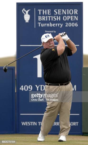 Craig Stadler on the 16th hole during the Senior British Open at Turnberry.