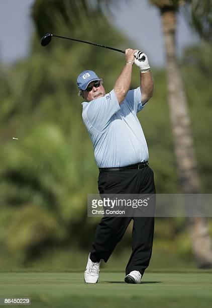 Craig Stadler tees off on during the Thursday ProAm at the 2006 Mastercard Championship at Hualalai resort Kona Hawaii