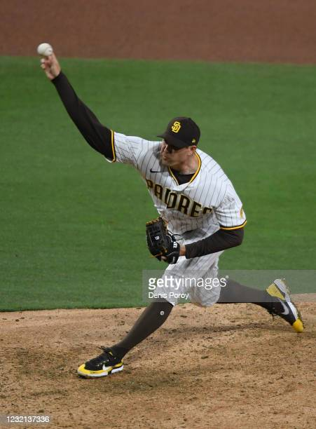 Craig Stammen of the San Diego Padres pitches during the sixth inning of a baseball game against the San Francisco Giants at Petco Park on April 5,...