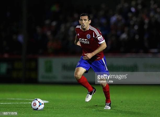 Craig Stanley of Aldershot Town in action during the Skrill Conference Premier match between Aldershot Town and Luton Town at Electrical Servies...