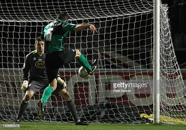 Craig Stanley of Bristol Rovers scores his sides first goal during the npower League Two match between Northampton Town and Bristol Rovers at...