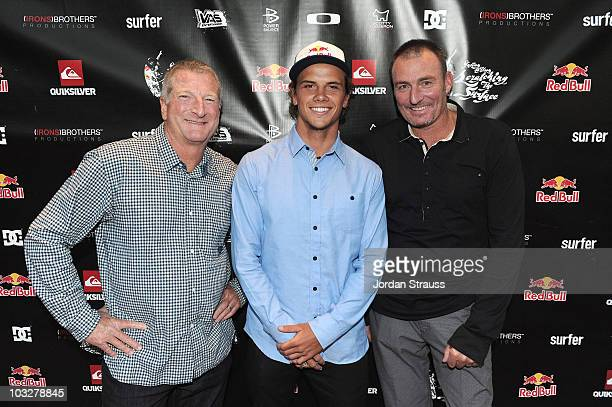 Craig Stevenson Julian Wilson and Bob McKnight attend Julian Wilson Scratching The Surface Movie Premiere at Orange County Performing Arts Center on...