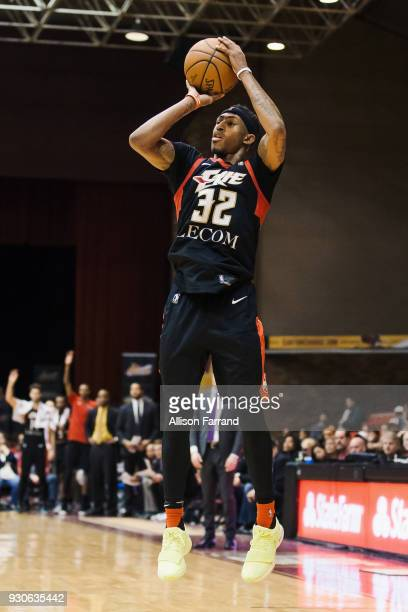 Craig Sword of the Erie BayHawks shoots the ball against the Canton Charge on March 11 2018 at Canton Memorial Civic Center in Canton Ohio NOTE TO...