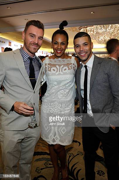 Craig Sykes actress Marsha Thomason and actor Wilson Cruz attend the 8th Annual GLSEN Respect Awards held at Beverly Hills Hotel on October 5 2012 in...