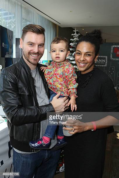 Craig Sykes Marsha Thomason and their daughter Tallulah attend the 4th Annual Santa's Secret Workshop Benefiting LA Family Housing at Andaz Hotel on...