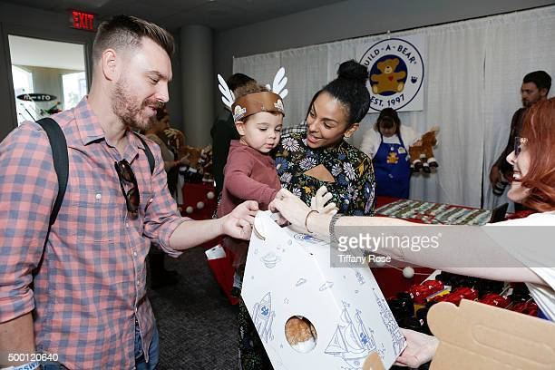 Craig Sykes Tallulah Sykes and actress Marsha Thomason attend 2015 Santa's Secret Workshop Benefiting LA Family Housing at Andaz Hotel on December 5...