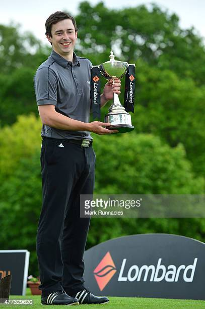 Craig Taylor , of Crow Wood Golf Club winner of the Lombard Trophy - Scottish Qualifier at Crieff Golf Club on June 16, 2015 in Crieff, Scotland.