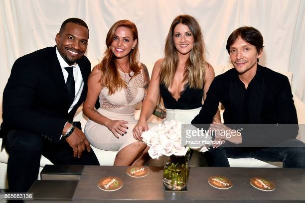 Craig the Barber Jillian Cherry Brittany Stevens and Ken Paves at the grand opening of the new Ken Paves Salon hosted by Eva Longoria on October 23...