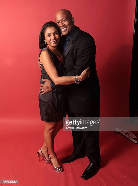 Craig Treadway and wife attend the 'Images Of Love' photo auction to benefit Leave Out Violence at the Mutual of America Building on April 21 2010 in...