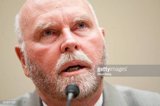 J Craig Venter chairman founder and chief executive officer of Synthetic Genomics Inc speaks during a House Energy and Commerce Committee hearing on...