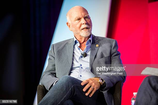 Craig Venter discusses topics with Alison Snyder at The Washington Post via Getty Images Transformers event