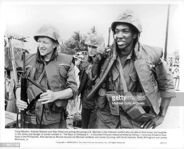 Craig Wasson Andrew Stevens and Stan Shaw are among the young US Marines in the Vietnam conflict who are able to find humor and laughter in the...